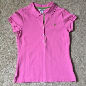 Lilly Pulitzer Resort Pink Polo - M